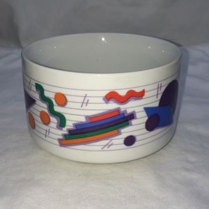 Vintage 1991 Betallic Geometric Shapes Funky Bowl